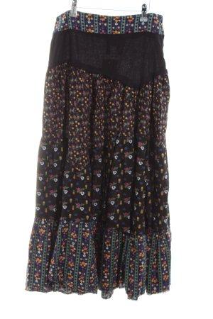 H&M Maxi rok volledige print vintage uitstraling