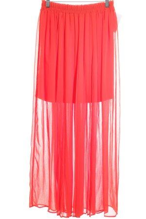 H&M Falda larga rojo estilo fiesta