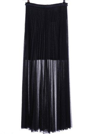 H&M Maxirock schwarz extravaganter Stil