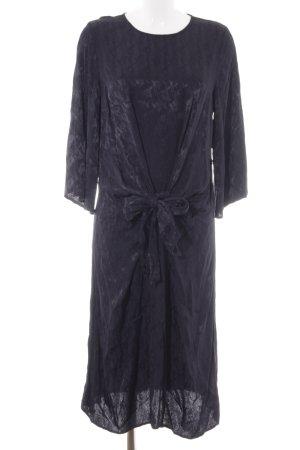 H&M Midikleid dunkelblau abstraktes Muster Elegant