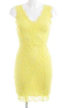 H&M Midikleid gelb florales Muster Casual-Look