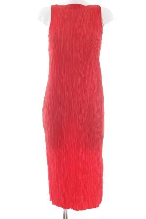 H&M Midikleid neonrot Street-Fashion-Look