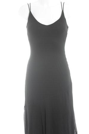 H&M Midikleid schwarz schlichter Stil
