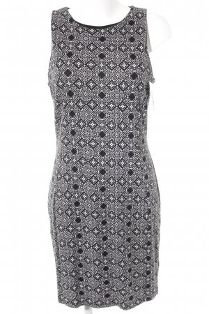 H&M Midi-jurk zwart-wit abstract patroon casual uitstraling