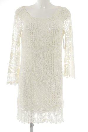 H&M Midi-jurk wolwit straat-mode uitstraling