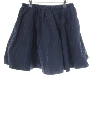 H&M Midirock blau Casual-Look