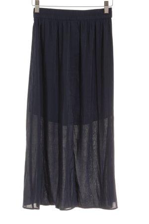 H&M Midirock dunkelblau Casual-Look