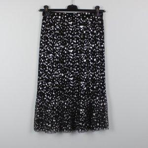 H&M Midirock Gr. 38 schwarz silber Sterne