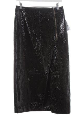 H&M Midirock schwarz extravaganter Stil