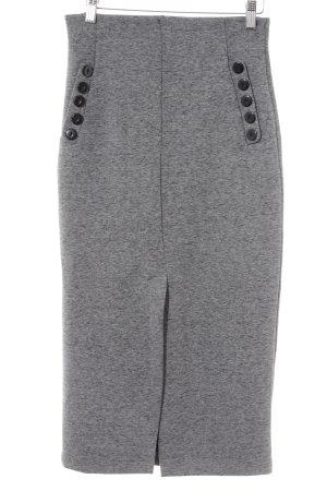 H&M Midirock schwarz-grau meliert schlichter Stil