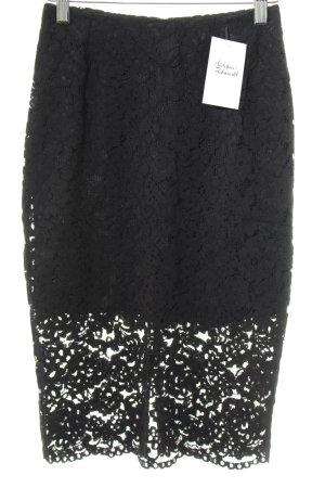 H&M Midirock schwarz schlichter Stil
