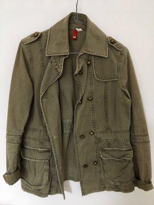 H&M Military Jacket green grey