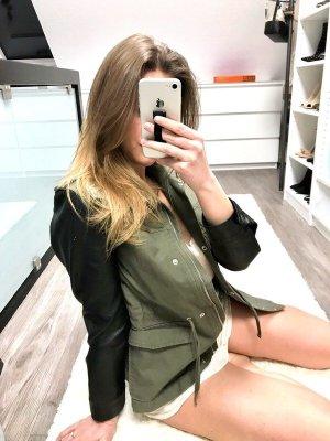 H&M Veste militaire kaki-noir