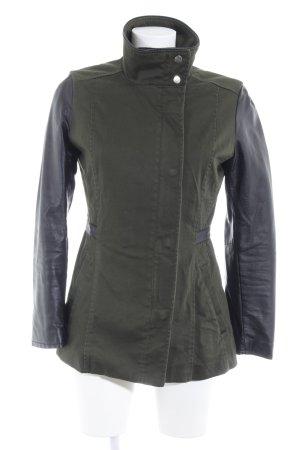 H&M Militaryjacke khaki-schwarz Casual-Look