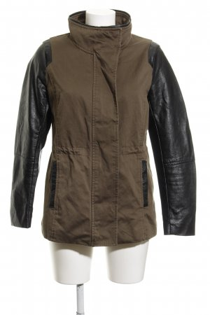 H&M Militaryjacke khaki-schwarz Military-Look