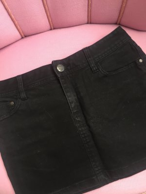 H&M Mini Rock Minirock Jeansrock 34 schwarz