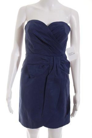 H&M Minikleid blau Schleifen-Detail