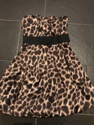 H&M Minikleid Cocktailkleid Sommerkleid Leopard Gr. 36
