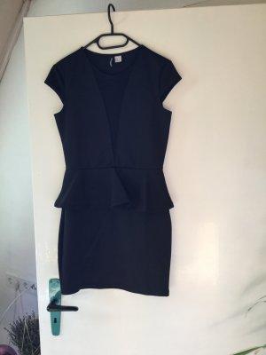 H&M Vestido peplum negro