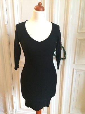 H&M Minikleid Longpulli sexy schwarz S