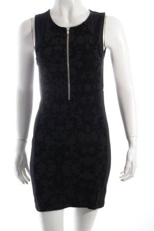 H&M Minikleid schwarz-dunkelgrau florales Muster Party-Look