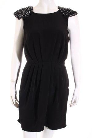 H&M Minikleid schwarz-silberfarben Elegant