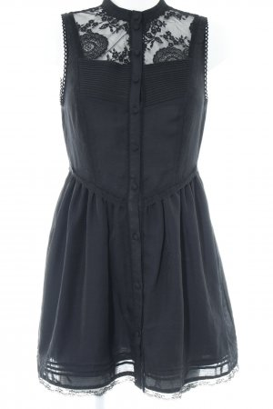 H&M Minikleid schwarz Spitzen-Optik