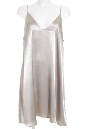 H&M Minikleid silberfarben Glanz-Optik