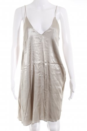 H&M Minikleid silberfarben Party-Look
