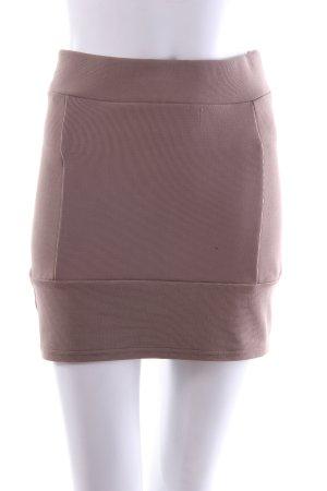 H&M Minirock beige mit Ziernähten