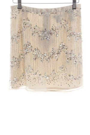 H&M Minirock creme-silberfarben Elegant