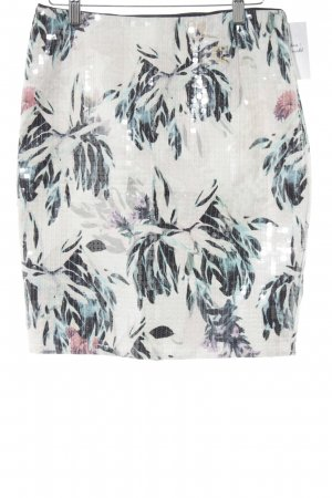 H&M Minirock florales Muster Glitzer-Optik
