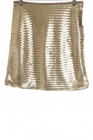 H&M Minirock goldfarben-beige 80ies-Stil