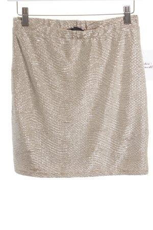 H&M Minirock goldfarben-silberfarben Glitzer-Optik