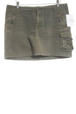 H&M Minirock khaki-olivgrün Military-Look