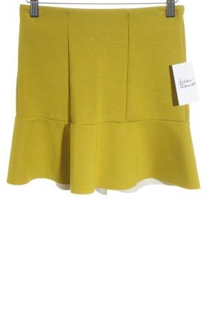 H&M Minirock limettengelb minimalistischer Stil