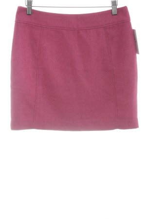 H&M Minirock magenta Fischgrätmuster Casual-Look
