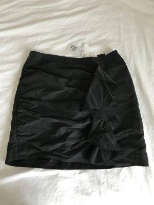 H&M Minirock mit Volants 40 neu mit Etikett in schwarz grau