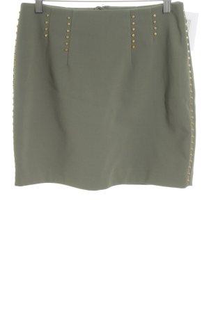 H&M Minirock olivgrün-khaki Business-Look