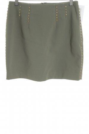 H&M Minirock olivgrün-khaki Business-Look