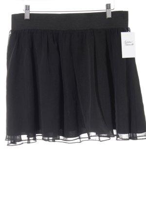 H&M Minirock schwarz Punktemuster Elegant