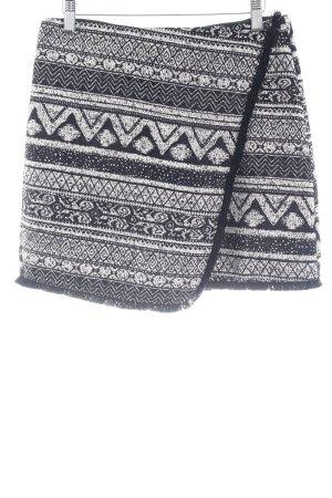 H&M Minirock schwarz-weiß Aztekenmuster Boho-Look