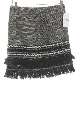 H&M Minirock schwarz-weiß Boho-Look