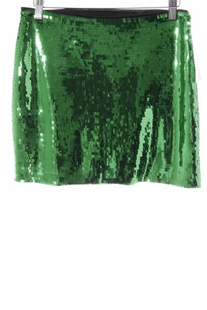 H&M Minirock waldgrün-grün extravaganter Stil