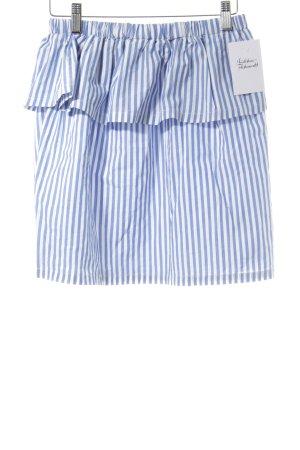 H&M Mini-jupe blanc-bleuet motif rayé style décontracté