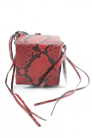 H&M Mini Bag black-dark red animal pattern extravagant style