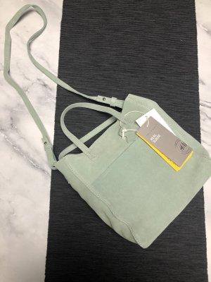 H&M Mintgrüne Echtleder Tasche