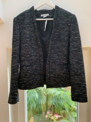H&M Tweed Blazer black-white