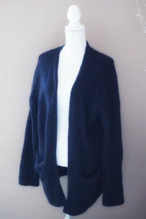 H&M Mohair Cardigan marineblau M