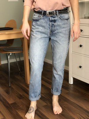 H&M Jeans boyfriend bleu azur-bleuet